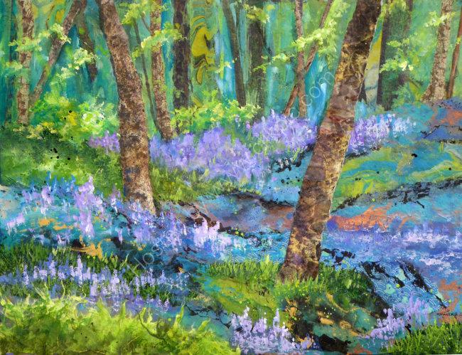 Bluebells in Dockey Wood 40cmx50cm