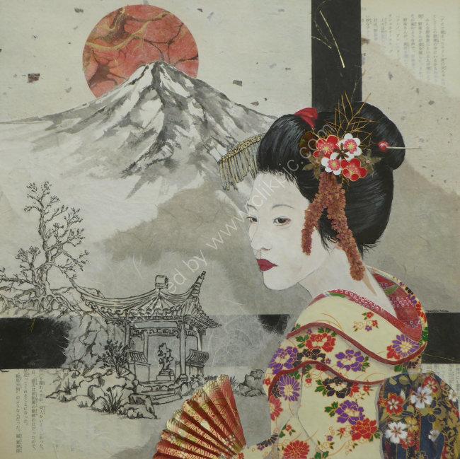 Geisha 3 50cmx50cm