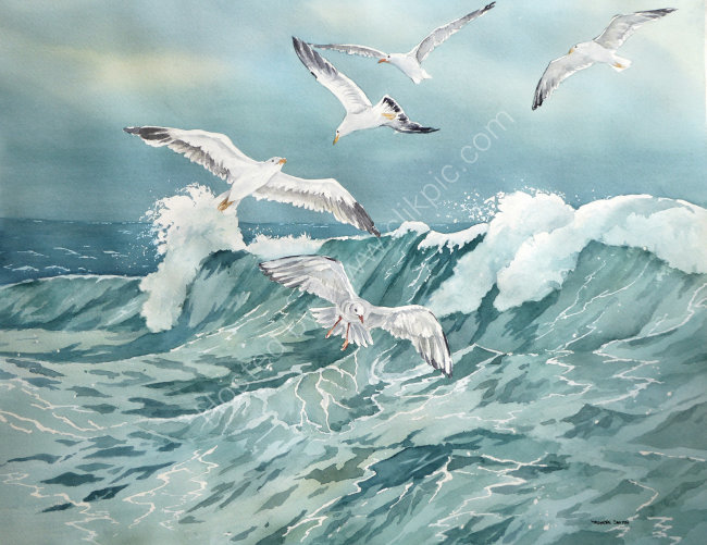 Rolling Wave 30x45cm