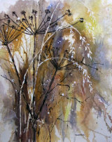 Hogweed and Grasses 27x37cm