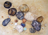 Pebbles and Marbles too 27x37cm