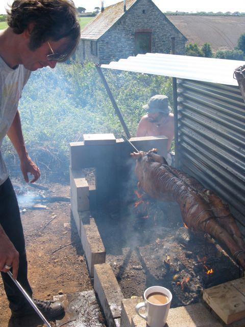 Basting a pig