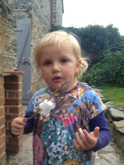 Evie-and marshmallows