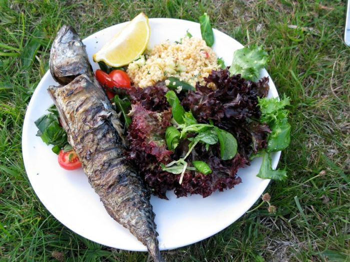 Mackerel-salad