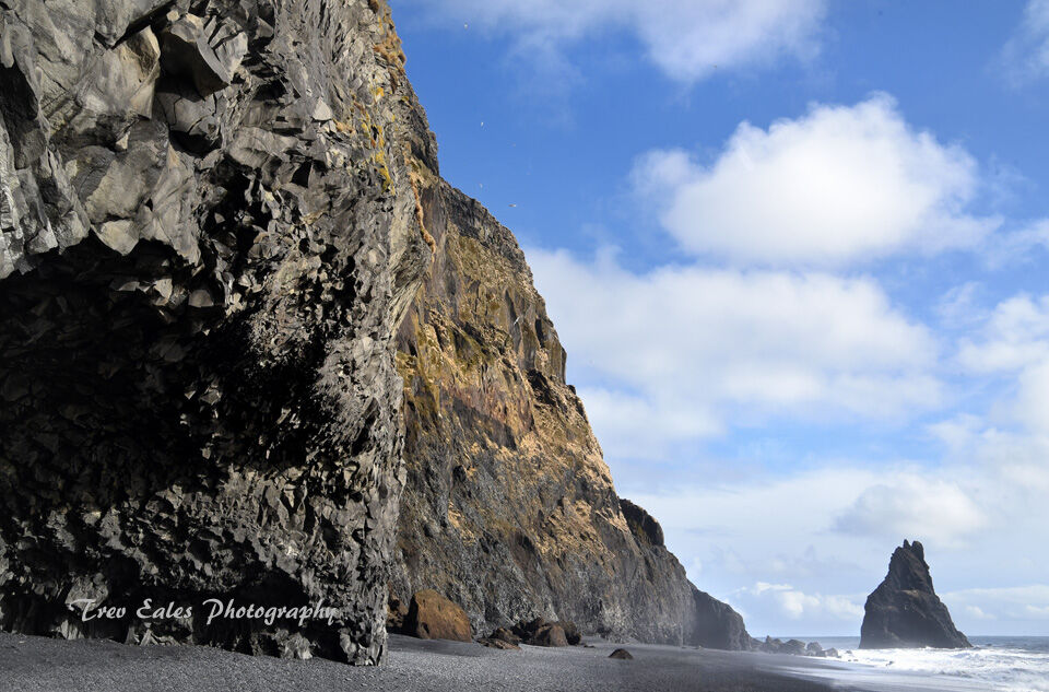 Reynisfjara cliffs.