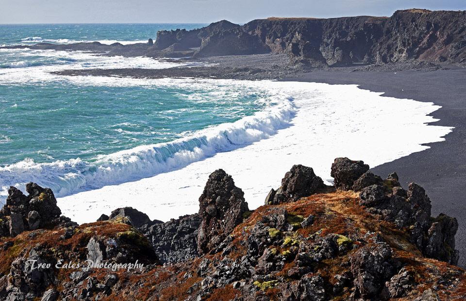 Atlantic waves; Djúpalónssandur.