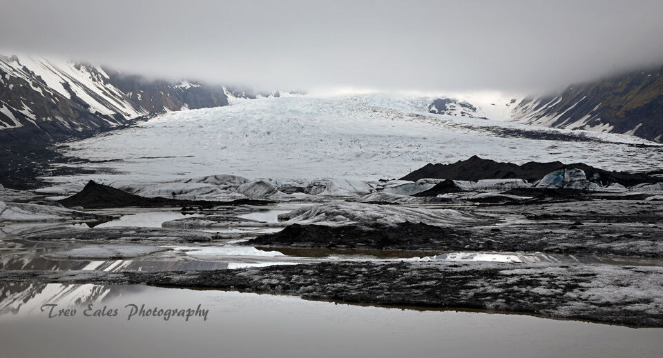 Into the wilderness: Kvíárjökull Glacier.