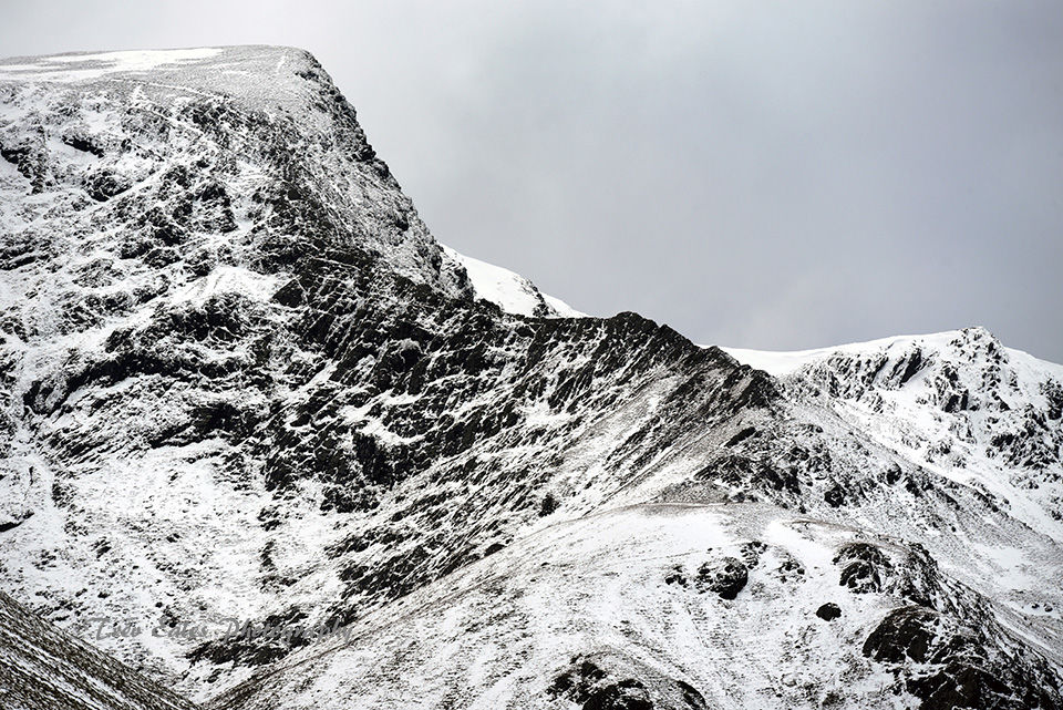 Winter conditions: Sharp Edge, Blencathra.