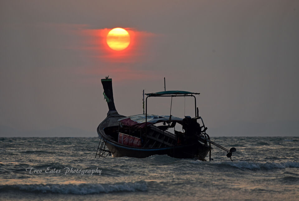 As the sun goes down: Railay Beach