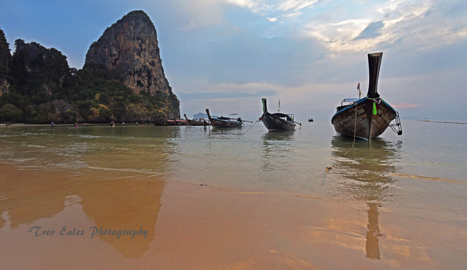 Evening reflections: Railay Beach
