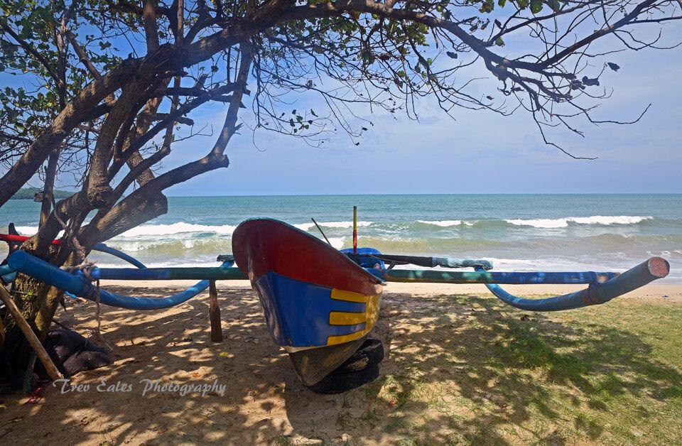 Traditional fishing boat, Jimbaran Beach.