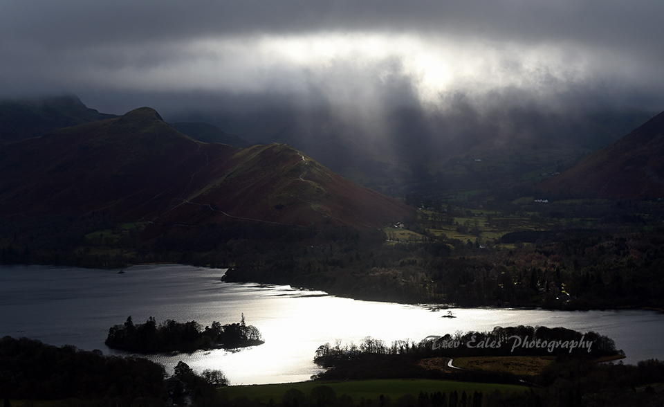 Sunbeams on Derwent Water