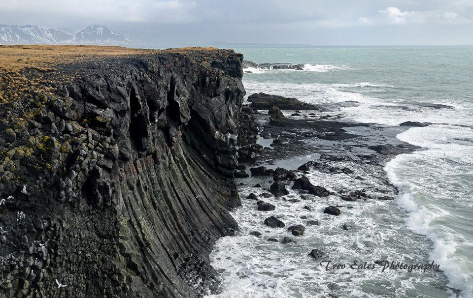 Basalt cliffs, Arnarstapi.