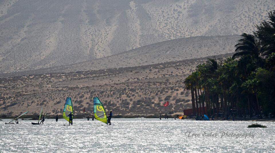 Windsurfing at Risco del Paso