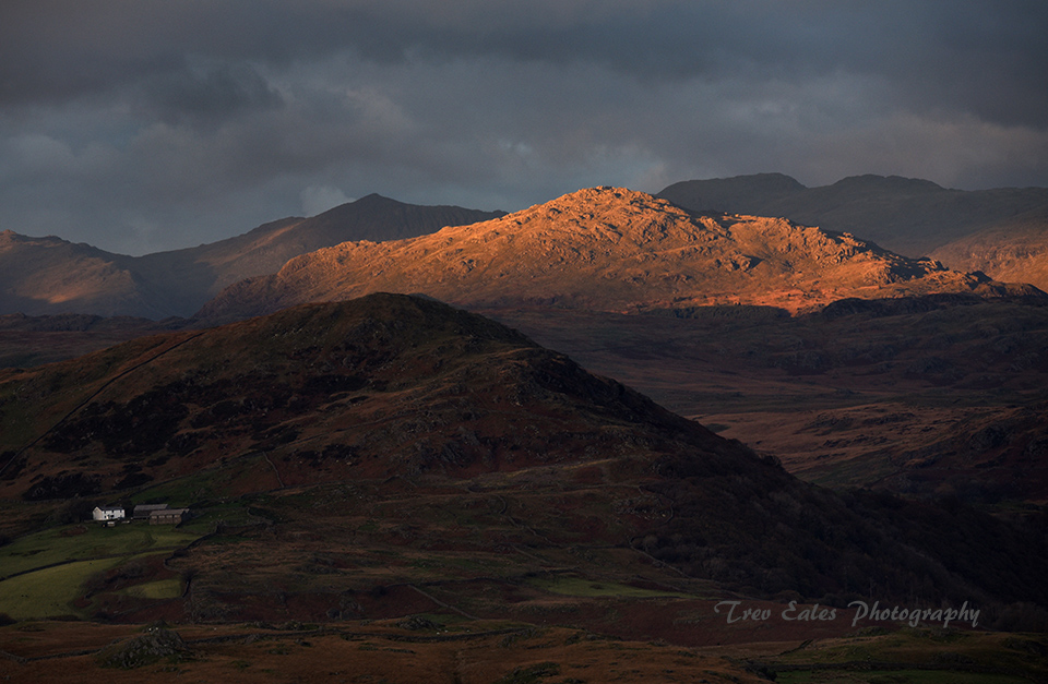Last Light on Harter Fell.