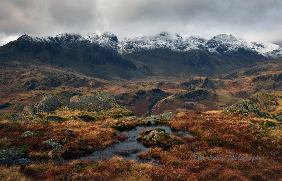 The Scafells from Hardknott