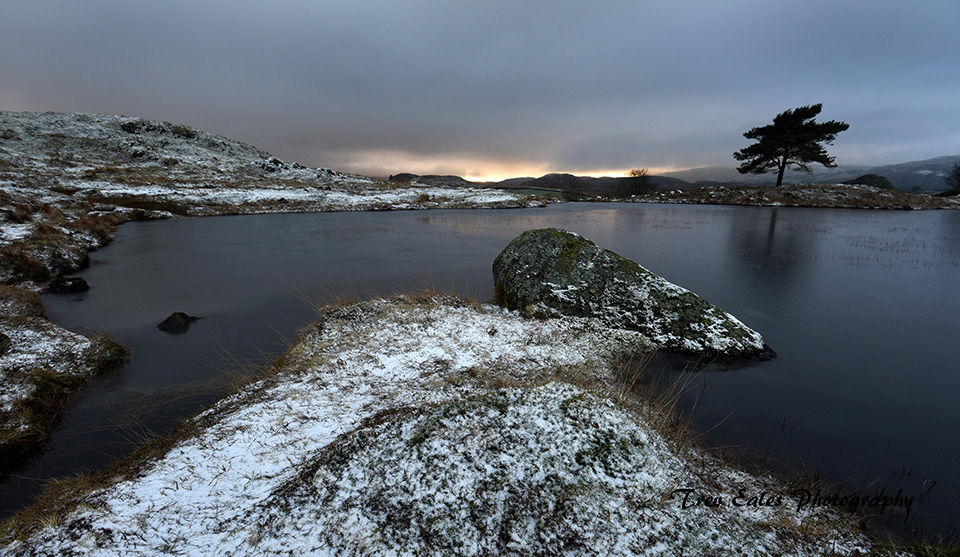 The end of the day: Kelly Hall Tarn.