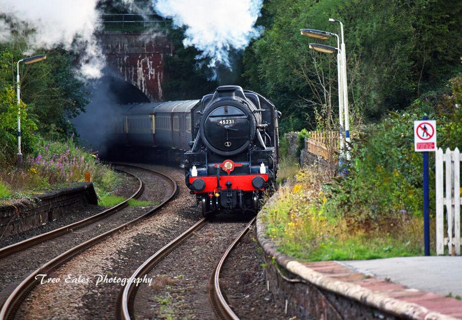 Approaching Dalton in Furness station.