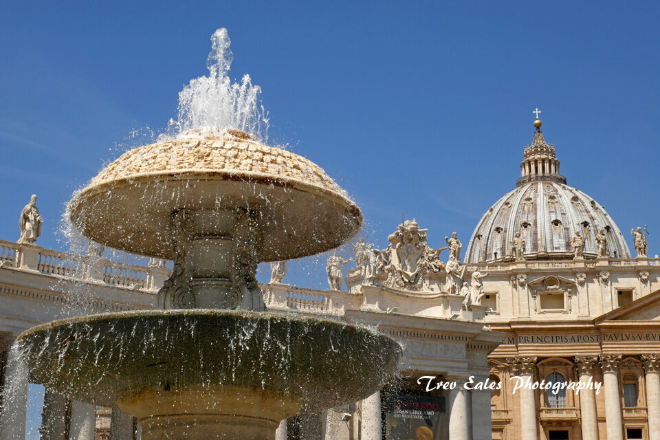 Fountain at St Peter's Basilica