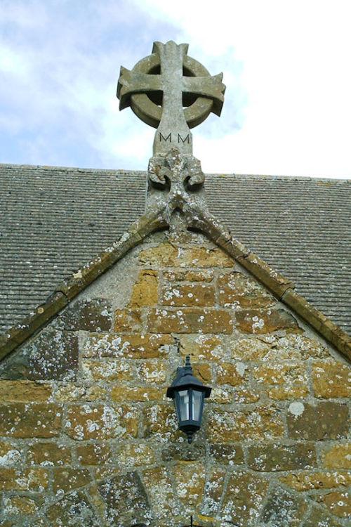 Great Bourton Church stone cross.