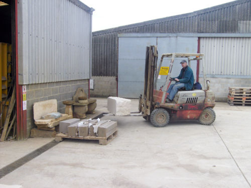 Our workshop, yard and examples of stone supplied.