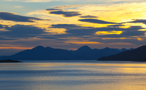 the cuillins from kishorn