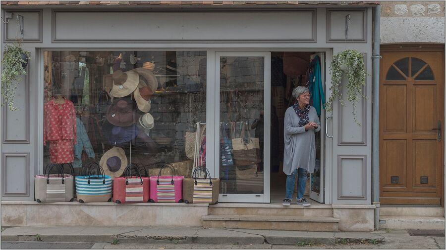 Les Andelys Shopkeeper, France