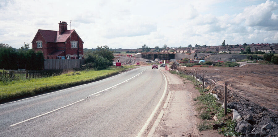 A14 under construction Rothwell 1992