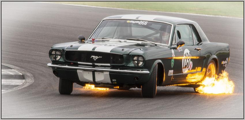 Fiery Mustang