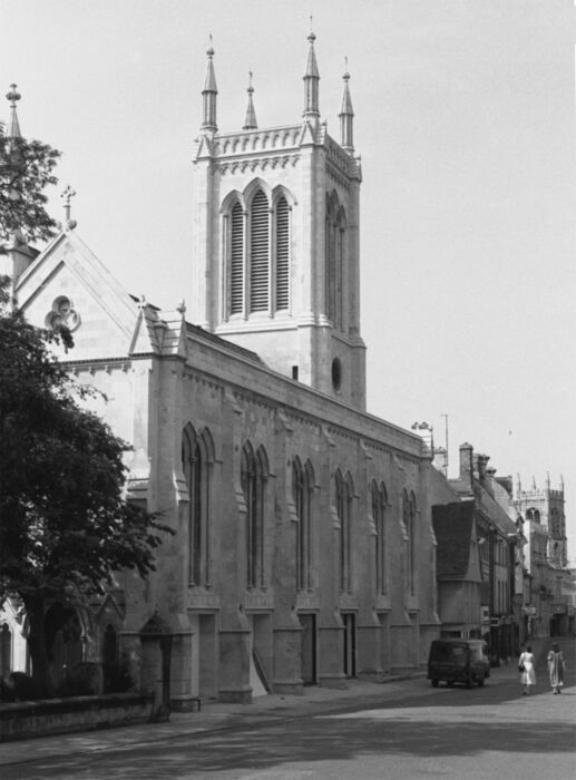 St. Michael's Church and High Street Stamford 1982