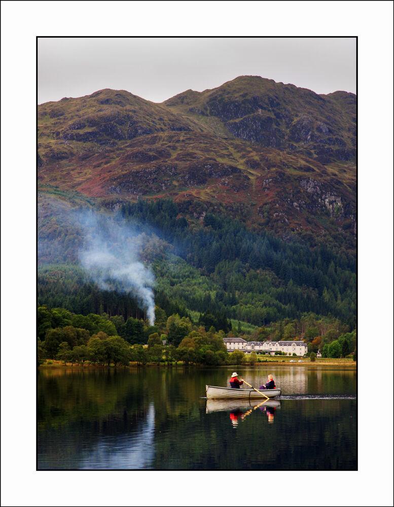Boating on Loch Achray