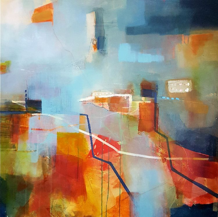Reaching Saturation metre square canvas, framed £1200