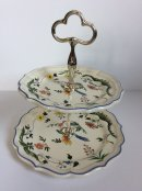 2 Tier French Gien Cakeplate