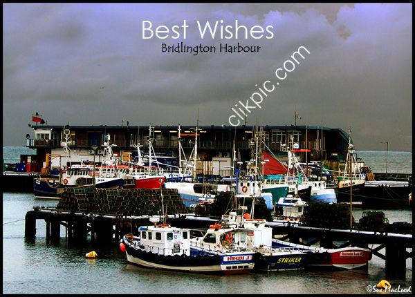 A gathering storm over Bridlington Harbour