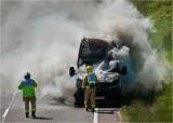 White van fire