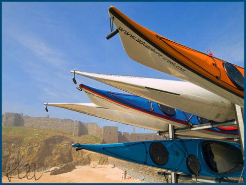 Kayaks and curtain wall