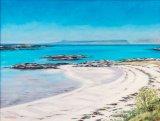 White sand, blue water