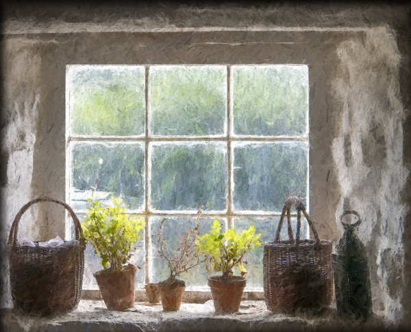 Cottage window - Ian Ledgard