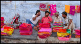 Selling saris - Jane Evans