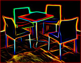 Neon chairs - Ian Ledgard