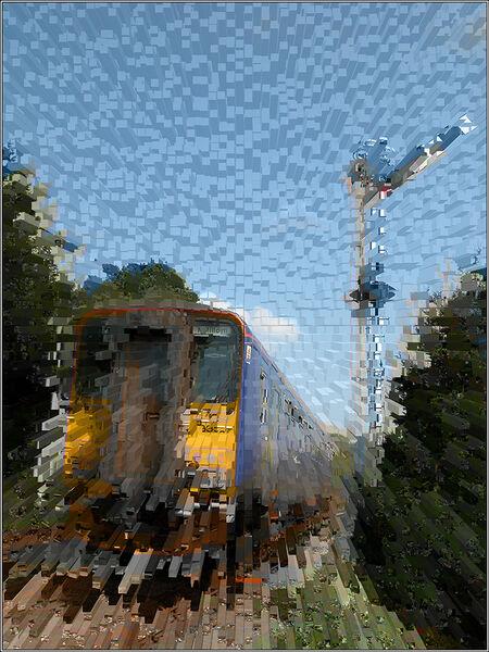Exploding train - Ian Ledgard