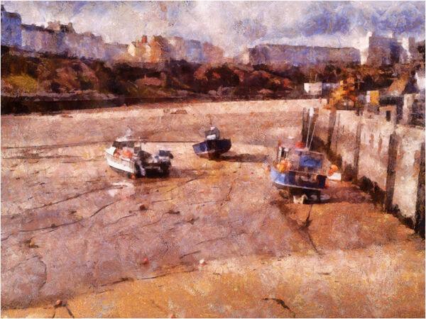 Low tide Tenby - John Hufferdine
