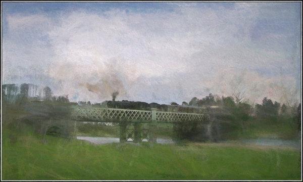 Steam train art