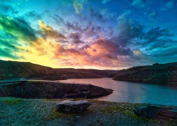 LLyn Brianne sunset - John Hufferdine