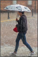 Running through the rain - Mary Pipkin