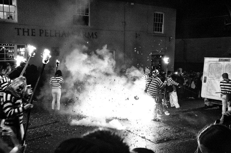 Drama outside the Pelham Arms