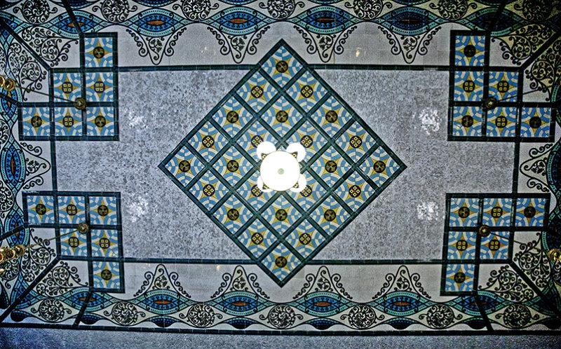 Stunning tiled ceiling