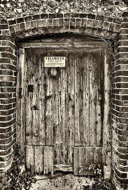 Derelict farm door