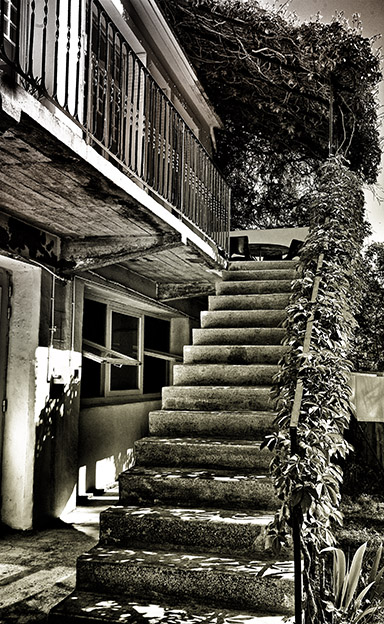 Sunlit steps