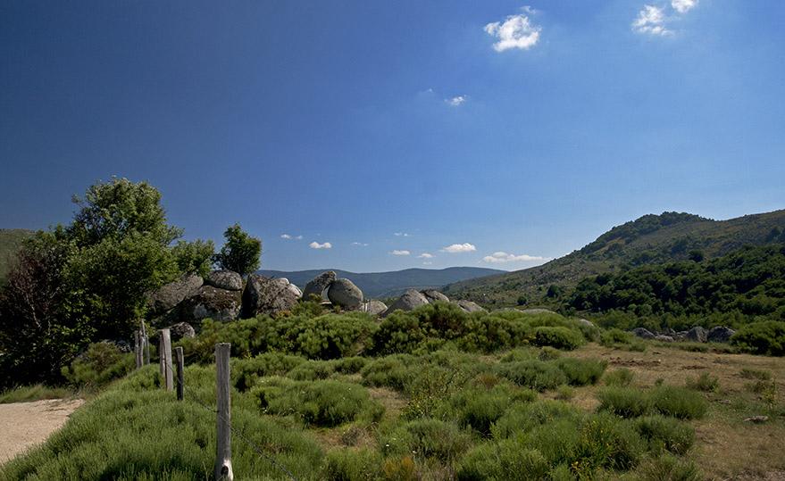 Boulder - strewn valley